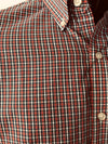 Mens Shirt • Red, White and Black Plaid • By Van Heusen