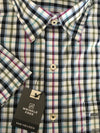 Van Heusen Mens Short Sleeve Shirt • Blue, Purple and Navy Plaid and Green, Blue and Black Plaid