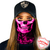Face Shield / Tubular Bandana • Skull Tech Pink Crow