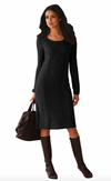 Womens Sweater Dress • Black