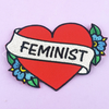Jubly Umph Embroidered Patch • Feminist Heart