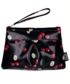 Liquorbrand Makeup Bag Cherry Daisy Black