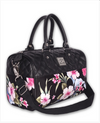 Liquorbrand Luau Flowers Black Bag