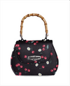 Womens Bag Liquorbrand Daisies Cherries • Bamboo Handle