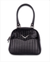 Liquorbrand Crocodile Bowler Bag Black