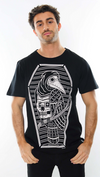 Men's T Shirt Staring Coffin Crow Black
