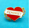 brooch Alt finery flower feminist brooch feminist pin red heart original lapel pin jubly umph Heart feminist