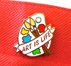 Lapel pin • Art is Life • Paint Palette
