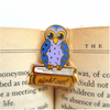 book gift present owl pin night owl owl brooch brooch Alt finery reader owl nightowl lapel pin jubly umph
