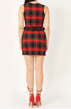 Womens Tartan Frill Crop Top