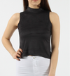 women's Top Suedette Top with Dipped hem Suedette Halter top drop tail hem