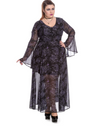Spin Doctor Plus Size Dark Sea Maxi Dress