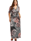Womens Maxi Dress • Galaxy Print • Plus Size