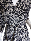 Womens Jungle Print Wrap Top