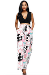 Palazzo Pants • Pink and Black Print