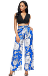 Palazzo Pants • Blue and White floral Print