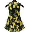Womens Twin Set Dress • Lemon Print • Plus Size