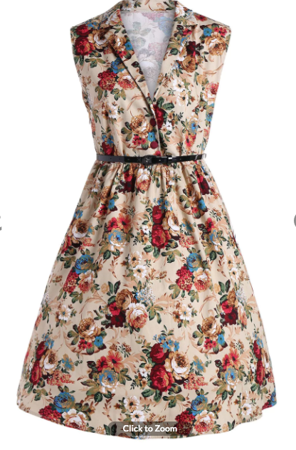 d983cd95dbc1d vintage Collared V Neck with Buttons On Bodice altfinery Buy Fashion  Australia Vintage Style Floral Midi