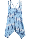 Womens Blue Tie Dye Tunic Top