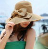 Sun Hat • Woven Brimed Hat with Bow