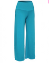 Womens Blue Wide Leg Pants