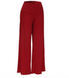 Womens Red Wide Leg Pants