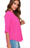 Womens Hot Pink Blouse