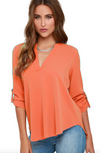 Womens Peach Blouse