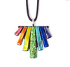 Dichroic Glass Necklace Rainbow