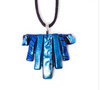 necklace Hand Made wakky Tas creations Triangle Made in Australia hand Crafted dichroic glass Costume jewellery Blue Glass Necklace
