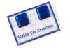 Stud Earrings Square Studs Made in Australia hand Crafted Earrings Dichronic Glass Blue Glass