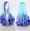estival Fashion fun Fashion coloured wigs Long wavy wig Light Blue Wavy wig Blue wig Umbre blue Costume wig Cosplay Harajuku