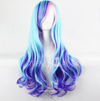 Costume Wig • Ombre Blue tones in Long Wavy Style