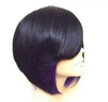 estival Fashion cosplay fun Fashion Feathered Bob Style wig Bobbed style Wig Wig Black and Purple Bob Wig bob