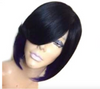 Costume Wig • Feathered Bob with Side Fringe in Black and Purple