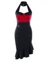 Womens Vintage Style Dress • Halter Neck Bodycon