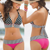 swim wear Stripes Polka dot Hot pink Hipster pants Halter Style Black & White Bathers Alt finery