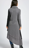 Womens Long Sleeve Asymmetric Maxi Dress