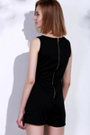 Womens Black Vintage Playsuit