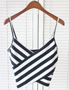 Womens Striped Crop Top