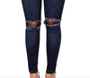 Womens High Waisted Ripped Jeans