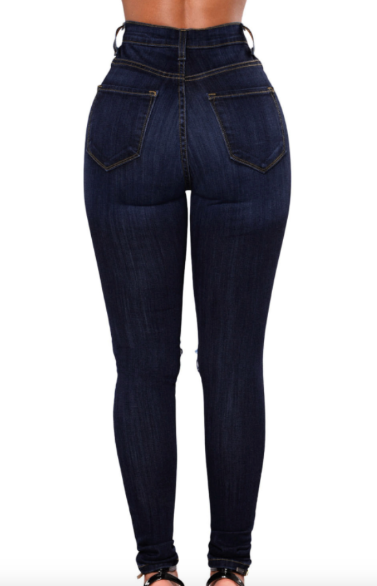 6d171a607229f pants plus size curves daylesford fashion daylesford jeans Denim dark blue  distressed ripped knees Ripped fishnet
