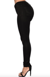 Womens Ripped Knee Black Jeans
