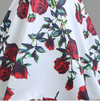 Womens Vintage Style Flared Dress • Rose Print