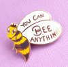 bee you can bee anything brooch BLACK jubly umph bumblebee jewellery Accessories cute lapel pin pin