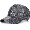 men's mens hats Street wear Metallic snake skin Mens cap