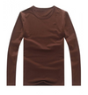 Street wear Long sleeve t-shirt Sweat shirt long sleeve top Brown top
