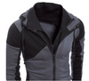 Men's Two Tone Hoodie with Double Zipper