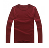Street wear Round neck Long sleeve t-shirt Sweat shirt Maroon