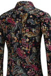 Body Con Vintage Style vintage Plus size Retro Bathers retro Shirt casual dress shirt Long Sleeve Mens shirt mens floral mod paisley print 60s style Paisley Paisley